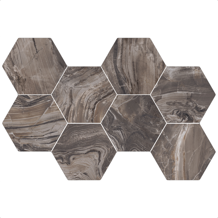 mos hexagon exotic brown